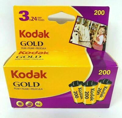 Kodak Gold 200 24exp 3 pack 6033971 ISO 200 35mm Jan 2021 Expiration