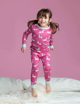 NEW Hatley Girls Horses Pyjamas Pink Soft 100% Organic Cotton AGE 2 Xmas Gift!