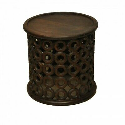 Hand Carved Round Coffee Table Small
