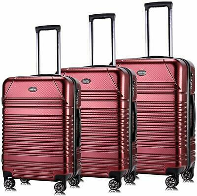 Travel Joy Luggage Set Expandable Suitcase 3 piece (20,24.28) BURGUNDY
