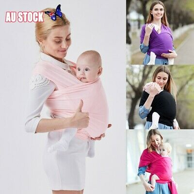 Baby Sling Cotton Adjustable Wrap Carrier Infant Breastfeeding Pouch Newborn New