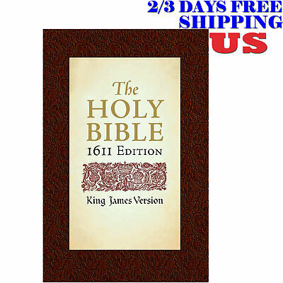 The Holy Bible King James Version 1611 Edition Complete w/ Apocrypha Hardcover