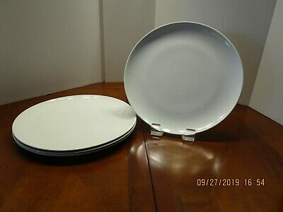 Corning Centura White Coupe set of 4 10-inch Dinner Plates