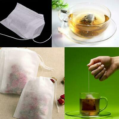 Empty Tea Bag Heat Sealing Filter Paper Clean Loose Bag String Teabag Herb LL