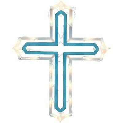 Holiday Time Lighted Christmas Cross Indoor or Outdoor Use