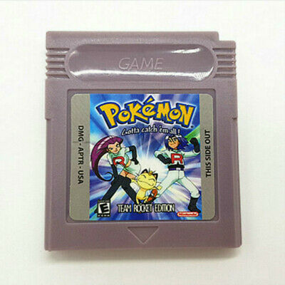 Pokemon TEAM ROCKET EDITION Cartridge Card for Game Boy Color Advance GBC GBA SP