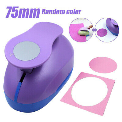 "Circle paper punch 3 "" 7.5cm XXL craft punches scrapbooking card making AU"