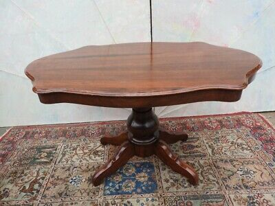 Antique Table Living Room from '800 Level Shaped Period Luigi Filippo Piedmont