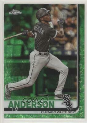2019 Topps Chrome Green Wave Refractor/99 #186 Tim Anderson Chicago White Sox
