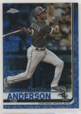2019 Topps Chrome Blue Refractor/150 #186 Tim Anderson Chicago White Sox Card