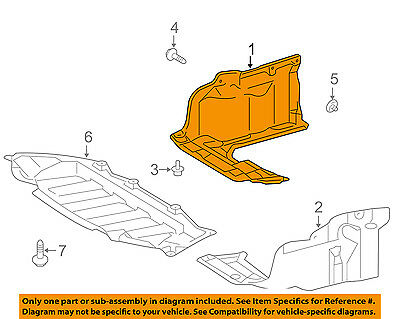 TOYOTA OEM 00-03 Tundra Under Radiator//Engine-Splash Shield Cover 5140534020