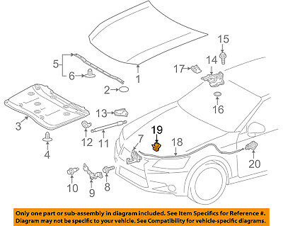 TOYOTA OEM Hood-Release Cable Clip 9046901003