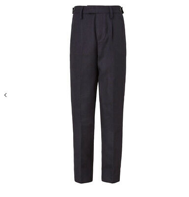 John Lewis Boys' Easy Care Adjustable Waist Tailored Fit School Trousers Aged 15