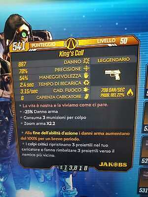 Borderlands 3 Anointed Elemental King's Call LVL 50 GOD ROLL XBOX ONE