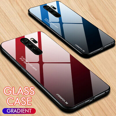 For Xiaomi Redmi Note 8 Pro Luxury 9H Gradient Tempered Glass Back Case Cover