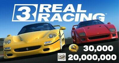 Real Racing 3 30,000 Gold 20,000,000 RS IOS ANDROID