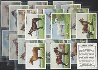 Players-Full Set- Types Of Horses (L25 Cards) - Exc