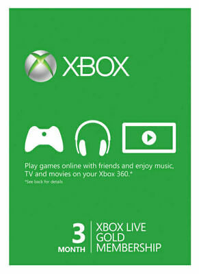 Microsoft - Xbox Live Gold 3-Month Membership (USA Region)