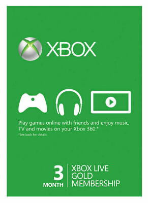 Microsoft - Xbox Live Gold 3 Month Membership (USA Region)
