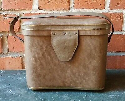 Old Leather Box Pouch Case Quiver Bag for Binoculars Messingrand
