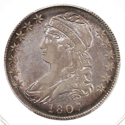 1807 Capped Bust 50C PCGS Certified XF45 Large Stars 50/20 Early US Silver Coin