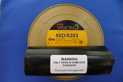 KODAK MOTION PICTURE  35MM x 100ft BULK FRESH VISION 3 COLOUR NEG  5219/ 500T