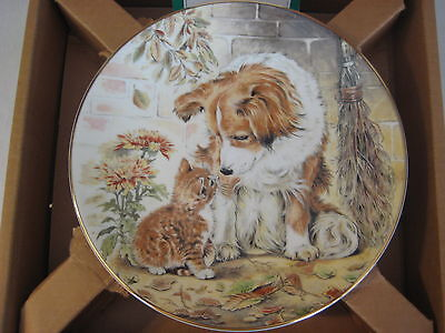 "Royal Worcester ""Puppy Pal"" Bone China Kitten Encounters Plate By Pam Cooper"