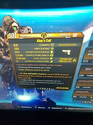 Borderlands 3 Perfect 125% Anointed Fire King's Call LVL 50 GOD ROLL XBOX ONE