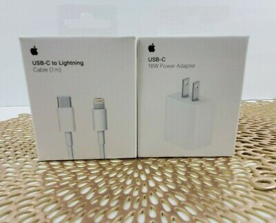 Apple 18W Charger Adapter USB-C to Lightning Cable iPhone 11 Pro Max Xs Max Air