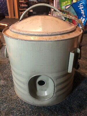 Antique Galvanized Water Cooler Approx 3 Gallon jug Stainless Steel Inside