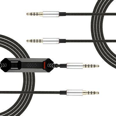 C17A 3.5mm Port Headset Audio Cable Replacement For SOL Republic Headphone Black
