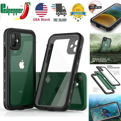 For iPhone 11 Pro Max Waterproof Shockproof Dirtproof Heavy Duty Full Body Case