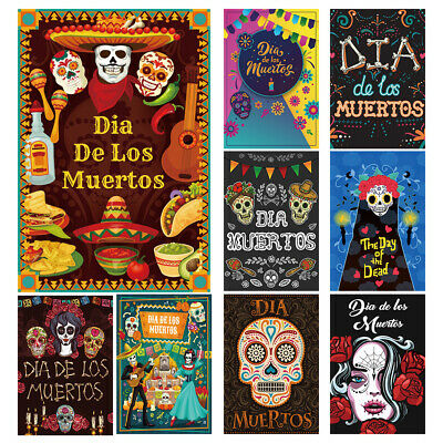 5x7/6x9/8x10'Background Day Of The Dead Colors Photo Photography  Backdrop Props