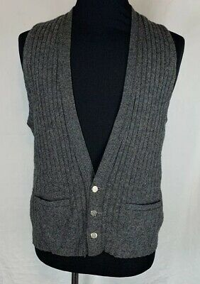 Vintage Mens Juster's Minneapolis Gray Wool Vest Size Large