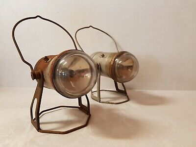 Pair Vintage Supreme British Made in England Spotlights Lamps Torch