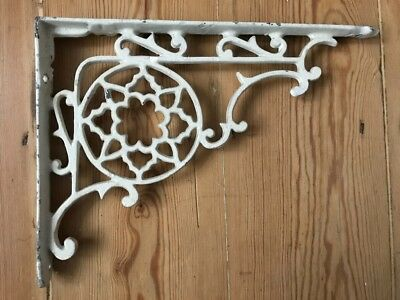 Original Antique Cast Iron Bracket | Shelf Shelves Cistern | White | Vintage