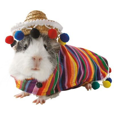 Guinea Pig Small Pet Sombrero Festival Halloween Costume Clothes Cute Funny Gift