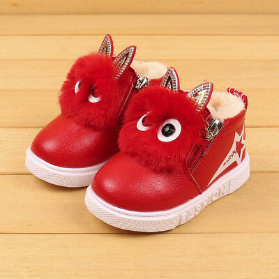 Winter Children Fashion Boys Girls Sneaker Boots Kids Warm Baby Casual Shoes New