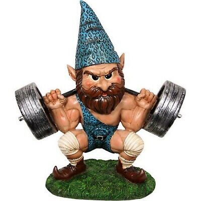 Weight Lifting Garden Weightlifting Gnome Gnomes Lifter Statue Male Novelty Gift