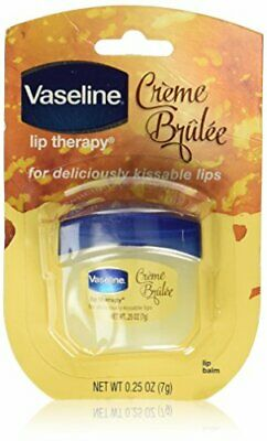 Vaseline Lip Therapy Lip Balm, Creme Brulee 0.25 oz (Pack of 2)