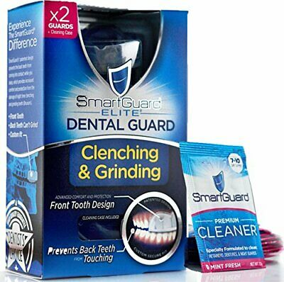 SmartGuard Elite Dental Guard (2 Guards)  Travel Case & 2 Months of Cleaning ...