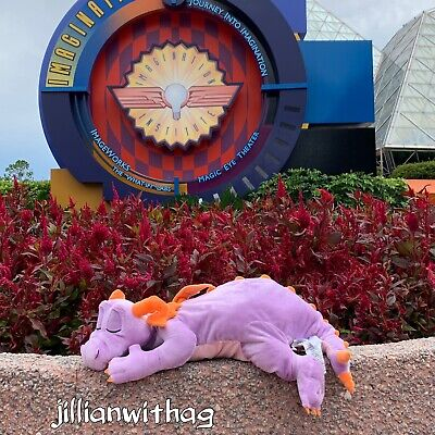 Disney Parks EPCOT Figment Dragon Dream Friend Plush NWT Sleeping Sold Out!