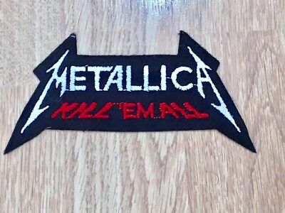 8x Heavy Metal Band Embroidered Sew// Iron On Patches Metallica Nirvana Etc 001
