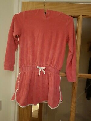 Girls Next age 8 years Holiday Beach Swim Towel Dress Coral pink with Hood