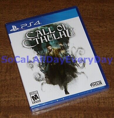 CALL OF CTHULHU Official Video Game (PlayStation 4) BRAND NEW FACTORY SEALED ps4
