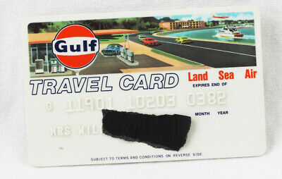 Gulf Oil Company Travel Card 1982 Vintage Collectors Credit Card Land Air Sea