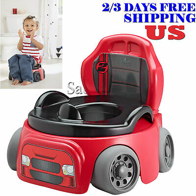 Potty Training Chair Kids Toddler Toilet Seat Car Racer Baby Child Boys Trainer