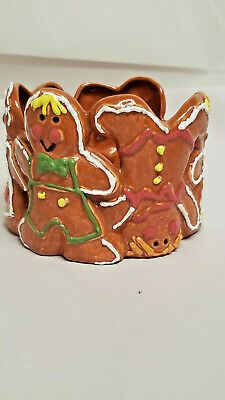Glazed Gingerbread candle holder or candy bowl.