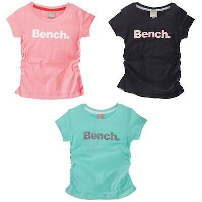 SHIRT292 Bench Childrens Girls Felt Tip Short Sleeve Printed T-Shirt