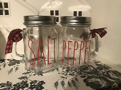 Rae Dunn Inspired Salt and Pepper shakers Christmas Edition